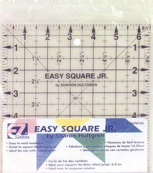 "Wrights®/EZ Square Jr. Ruler-6-1/2""X6-1/2"""