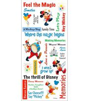 Disney Stickers/Borders-Mickey Phrase Sheet, , hi-res