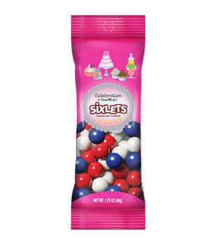 Sixlets(R) Candies Peg Pouch 1.75oz-Red, White & Blue