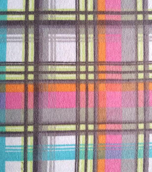 Snuggle Flannel Fabric-Pastel Plaid