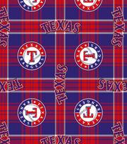 Texas Rangers MLB Plaid Fleece Fabric, , hi-res