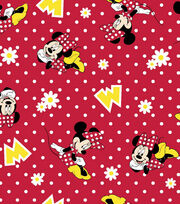 Disney Minnie Mouse Dot Flannel Fabric, , hi-res