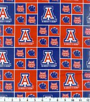 University of Arizona NCAA  Cotton Fabric, , hi-res
