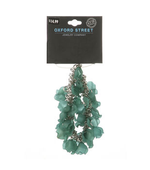Oxford Street Jewelry Co. Turquoise Green Dangle Bead Bracelet