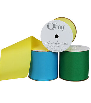 "Offray 3""x21' Grosgrain Solid Ribbon"