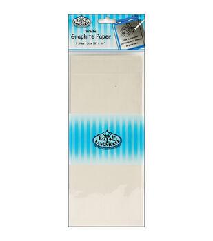 "Royal Brush-Graphite Paper 18""X36"" 1PK-White"