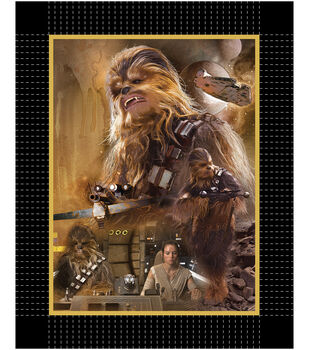 Star Wars VII Chewie No Sew Fleece Throw