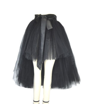 Maker's Halloween Adult Wraparound Tutu-Black