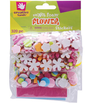 Fibre Craft Foam Stickers-320PK/Mini Flowers