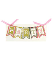 Anna Griffin Party Banner Diecut Word Custom Invitation, , hi-res
