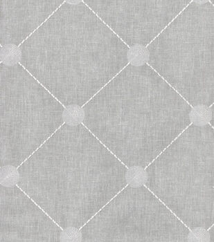 Kelly Ripa Upholstery Fabric-Fanfare Emb Cloud