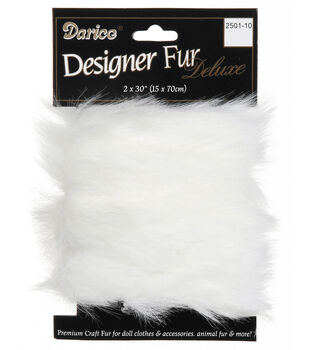 2 x 30 inch Fur Trim-Black