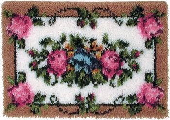 Caron Wonderart Latch Hook Kit Elegant Rose