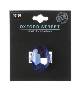 Oxford Street Jewelry Co. Sapphire Center Stone Ring w/Silver Plating
