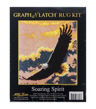 """Latch Hook Kit 30""""X36""""-Soaring Spirit"""