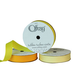 "Offray 5/8""x21' Grosgrain Solid Ribbon"