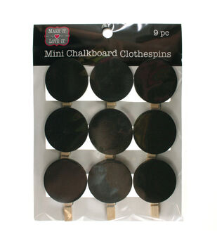 Make It Love It™ Chalkboard Clothespins Circles