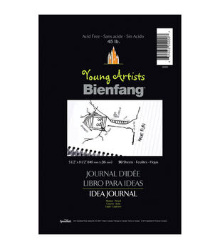 """Young Artist Bienfang Idea Journal 8.5""""X5.5"""" 50 Sheets-45lb Ruled Wire-Bound"""