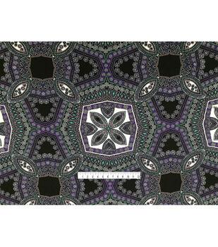 Nicole Miller Rayon Spandex Knit Fabric-Psychic