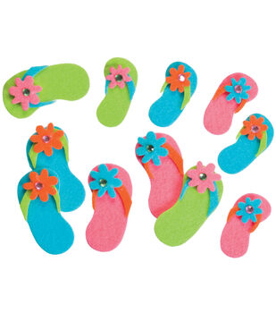 Darice Felties Stickers 20/Pkg-Flip Flops With Gems