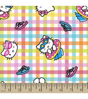 Sanrio Hello Kitty Plaid Cotton Fabric, , hi-res