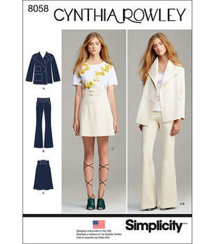 Simplicity Misses' Suit Separates, Cynthia Rowley Collection-4-6-8-10-12