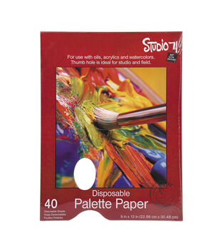 Studio 71 Disposable Palette Paper with Hold 9x12