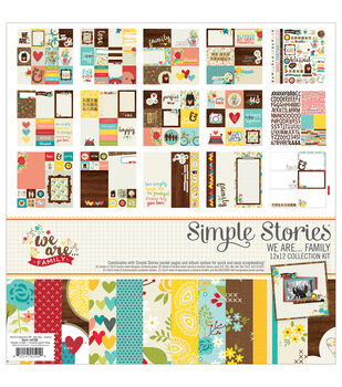 Simple Stories We Are Family 12''x12'' Collection Kit