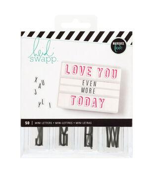 Heidi Swapp Lightbox Mini Inserts 50/Pkg-Alphabet Black