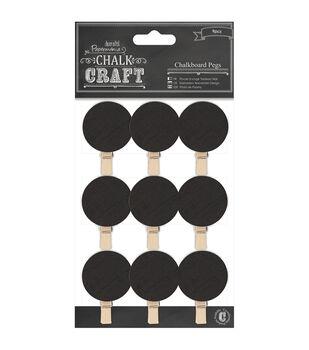 Papermania Chalk Craft Circles Chalkboard Pegs