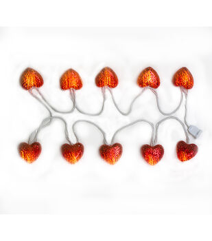 Valentine's Day 10pcs Red Heart Lights