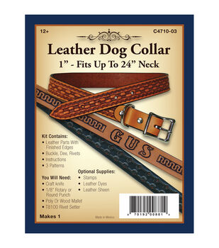 Realeather Crafts- Leather Dog Collar 1""
