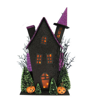 Maker's Halloween Purple Roof Spooky House
