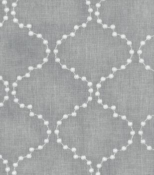 HGTV Home Upholstery Fabric-Pearl Drop Emb Smoke