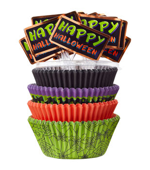 Wilton® Standard And Mini Baking Cups-Halloween 125/Pkg