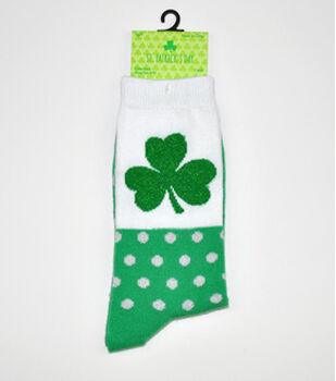 St. Patrick's Day Crew-Shamrock Dot