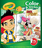 Color 'N Sticker Book-Jake And The Never Land Pirates, , hi-res