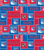 New York Rangers  NHL Block Fleece Fabric, , hi-res