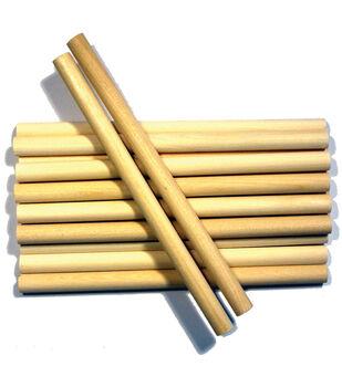 """Wood Craft Dowels-3/8""""X6"""" 10/Pkg"""