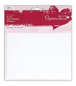 "Papermania Square Cards/Envelopes 6""X6"" 10/Pkg-White"