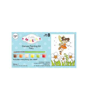 """Little Makers™ Canvas Painting Kit- 6""""x8""""- Fairy"""