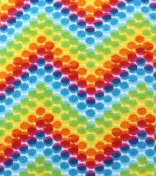 Anti-Pill Fleece Fabric-Multi Dots Tiedye