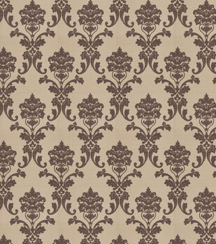 Eaton Square Print Fabric-Crusader/Gray