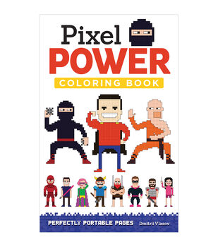 Adult Coloring Book-Design Originals Pixel Power