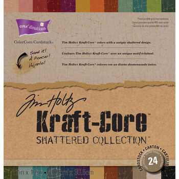 "Core'dinations Tim Holtz Shattered Kraft Core Cardstock 12""x12"""
