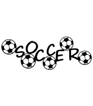 """Scrapbook 101 12"""" Die-Cut Borders-Soccer"""