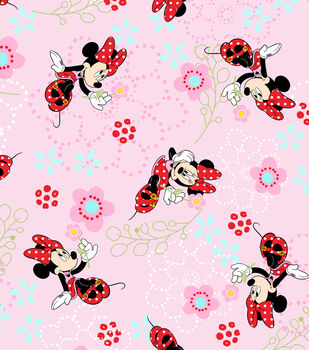 Disney Minnie Floral Garden Cotton Fabric