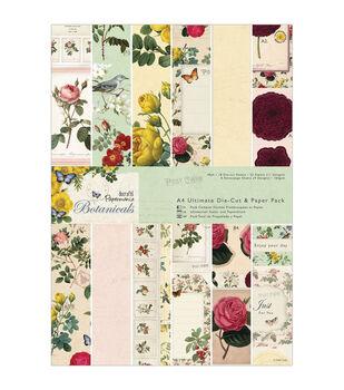 Papermania Botanicals Ultimate A4 Die-Cut/Paper Pack 48/Pkg-