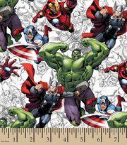 Marvel Avengers Assemble Sketch Cotton Fabric, , hi-res