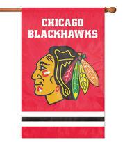 Chicago Blackhawks NHL Black Applique Banner Flag, , hi-res